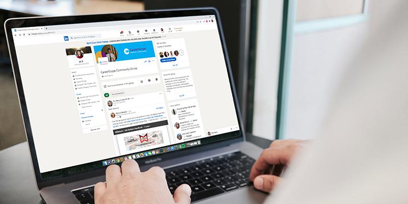 CareerScope Linkedin Group Mock Up